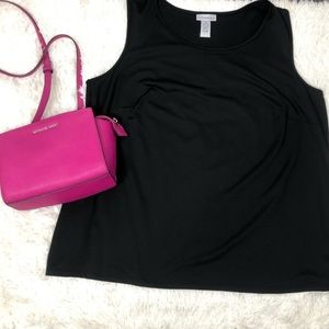 Catherine's Black Shell Top 1X